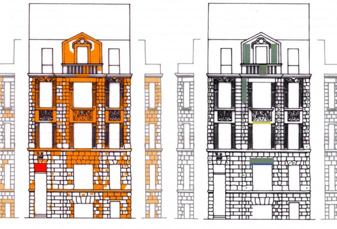 Wohnhaus Schwerinstraße, Restaurierungen
